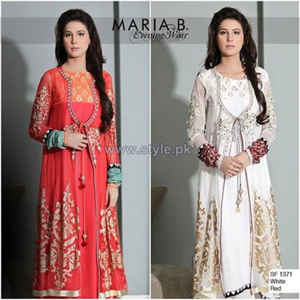 Maria B Evening Wear Dresses 2014 For Girls 4