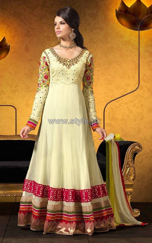 Beautiful Anarkali Dresses Designs 2014 For Eid 4