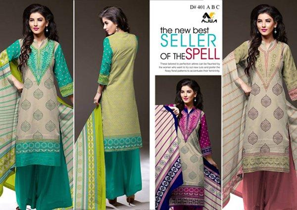 Ajwa Textile Khaddar Dresses 2014 Volume 1 For Women 007