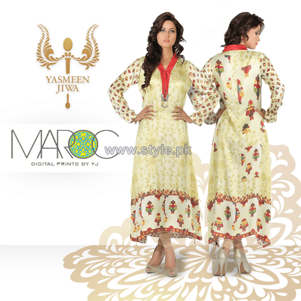 Yasmeen Jiwa Digital Print Dresses 2014 For Girls 3