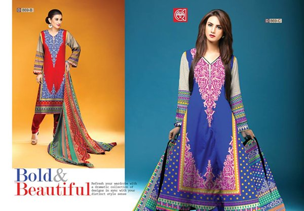 Al Hamra Textiles Winter Dresses 2014 For Women 006