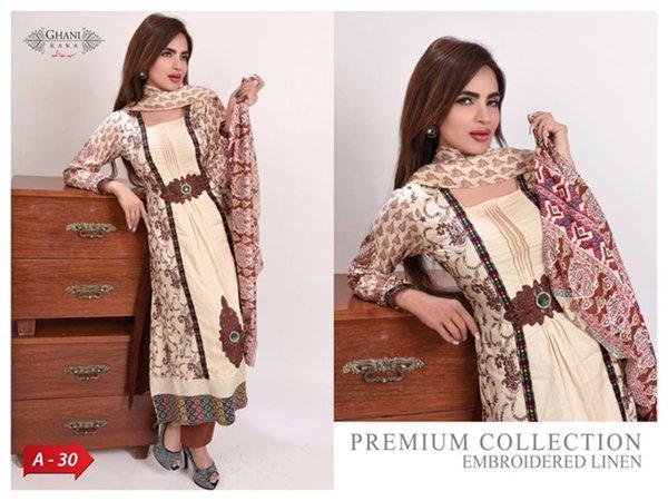 Ghani Textile Winter Dresses 2014 For Women 005