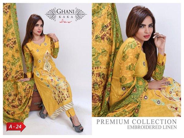 Ghani Textile Winter Dresses 2014 For Women 007