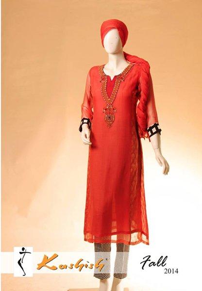 Kashish Winter Dresses 2014 For Women 003