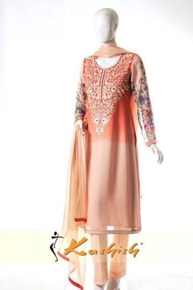 Kashish Winter Dresses 2014 For Women 005