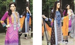 Maria B Winter Shawl Dresses 2014 For Women 4