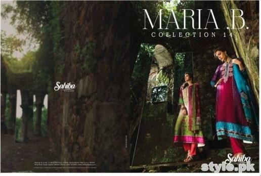 Maria B Winter Shawl Dresses 2014 For Women 8