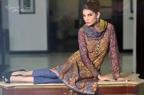 Sana Salman Winter Dresses 2014 For Women 009