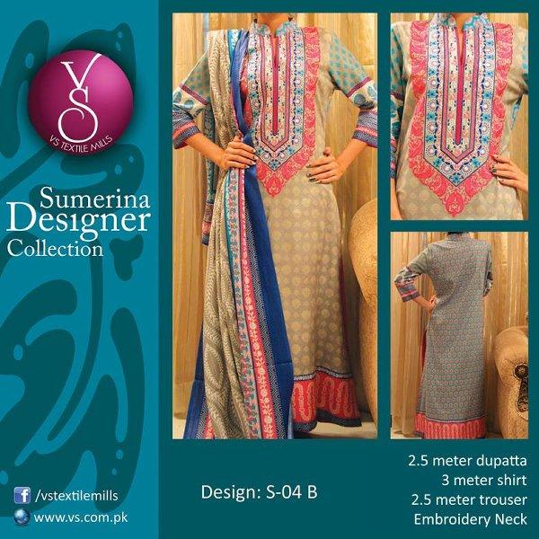 VS Textile Mills Autumn Dresses 2014 For Women 003