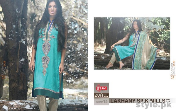 Zunuj Winter Dresses 2014 By LSM Fabrics 10