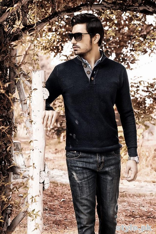 Charcoal Winter Dresses 2014-15 For Men 4