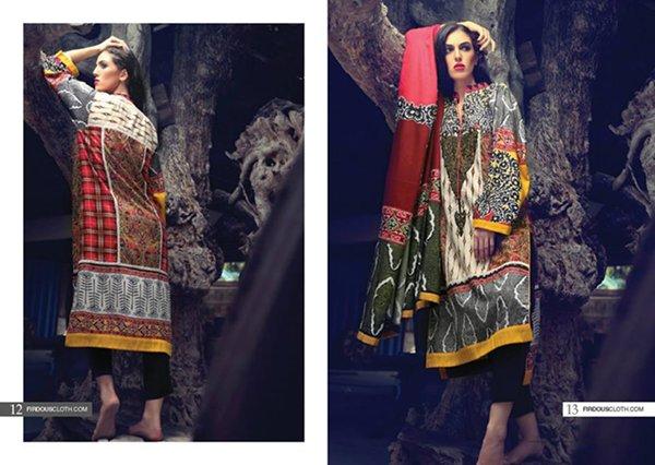 Firdous Cloth Mills Winter Dresses 2014 For Women 006