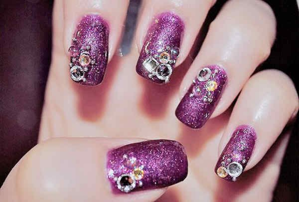 Latest Nail Art Designs 2014 For New Year 0015