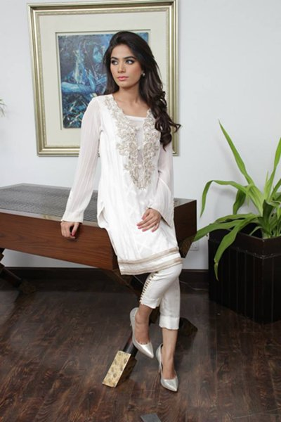 Zainab Salman winter dresses 2014 for women 001
