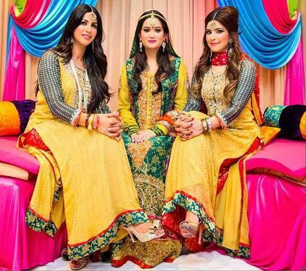 Pakistani Mehndi Dresses 2015 For Girls 006