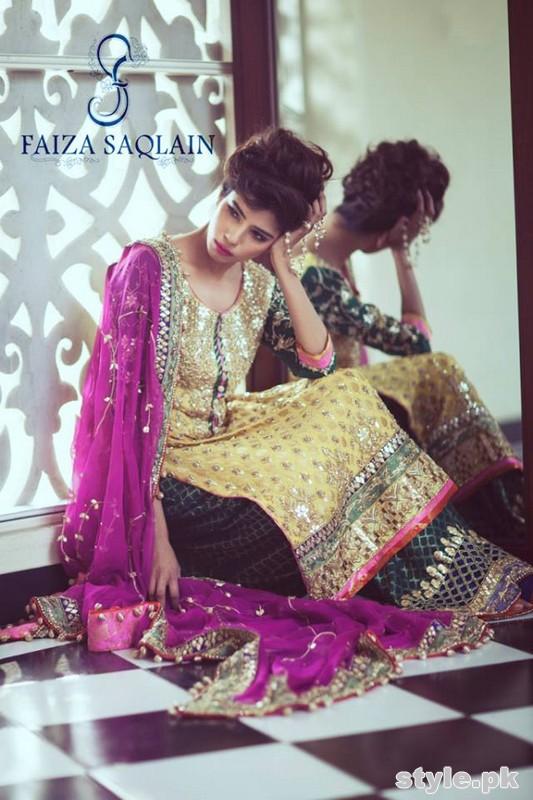 Faiza Saqlain Bridal Wear Dresses 2015 For Girls 3