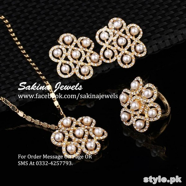 Latest Jewellery Collection 2015 by Sakina Jewelery 10