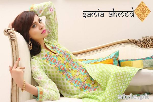 Samia Ahmed Spring Summer Dresses 2015 For Girls 2