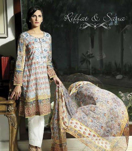 Sana Salman Summer Collection 2015 For Women 0011