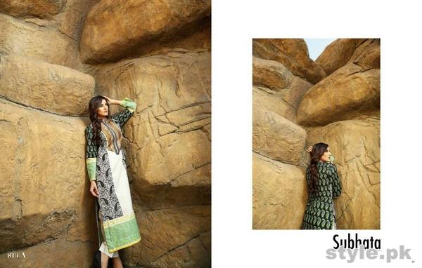 Subhata Embroidered Collection 2015 Shariq Textiles 6