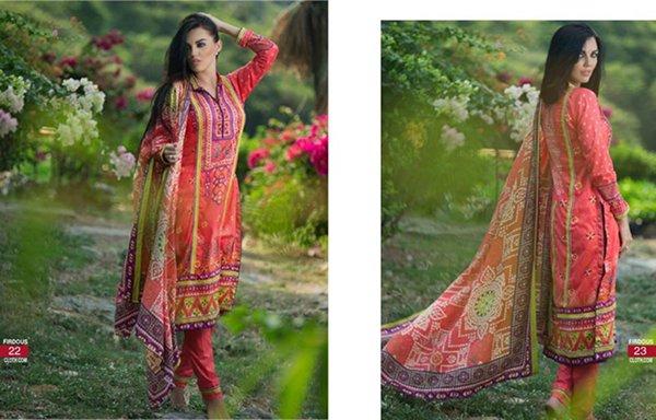 Firdous Cloth Mills Korean Lawn Collection 2015 For Women 0017