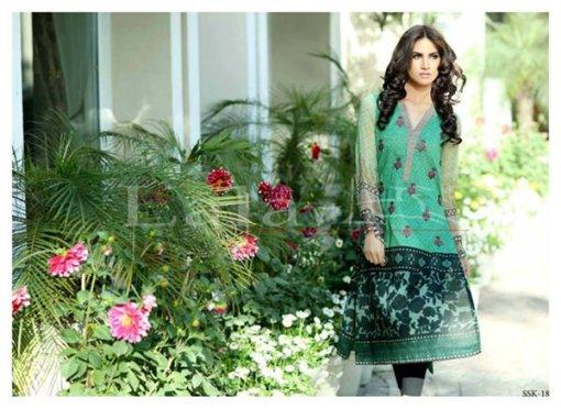 Lala Textiles Sana & Samia Collection 2015 Volume 2 For Women 004