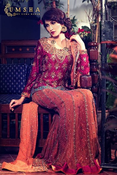 Umsha By Uzma Babar Bridal Dresses 2015 For Women 004