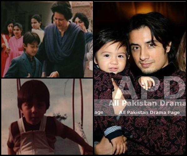 ali zafar childhood and his son childhood