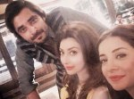 hamza ali abbasi and ayesha khan with sarwat gillani