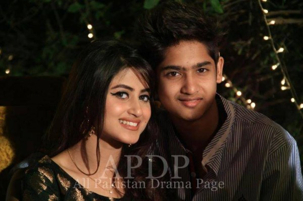 Hot Pakistani Actresses With Their Brothers sajal ali brother