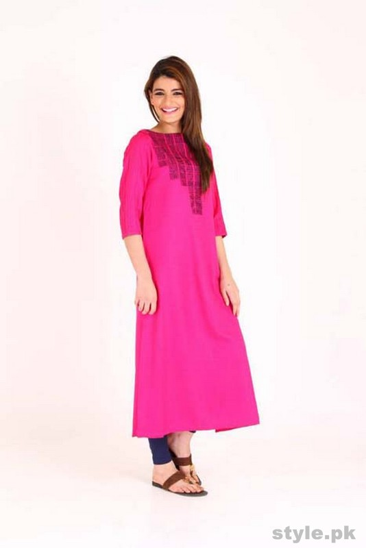 Latest Pakistani Casual Dresses Designs 2015 For Girls 2