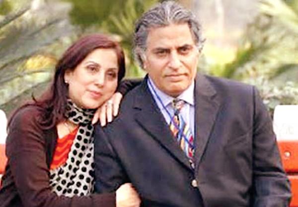 Samina Peerzada with husband
