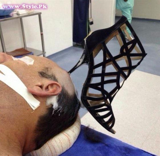 Saudi man Beaten with Sandal