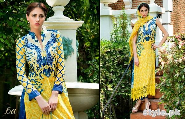 Tabassum Mughal Lawn Dresses 2015 by Al-Zohaib Textile 8