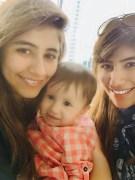 syra shehroz with daughter nooreh and sister palwasha yousuf