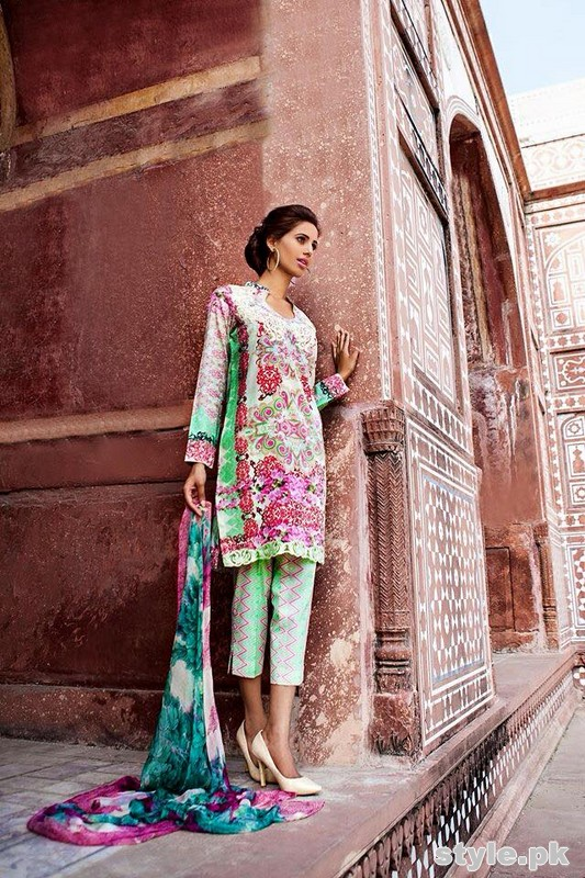 Asifa and Nabeel Lawn Dresses 2015 For Women 7