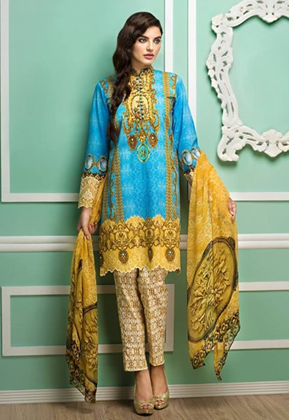 Cross Stitch Eid Collection 2015 For Women0014