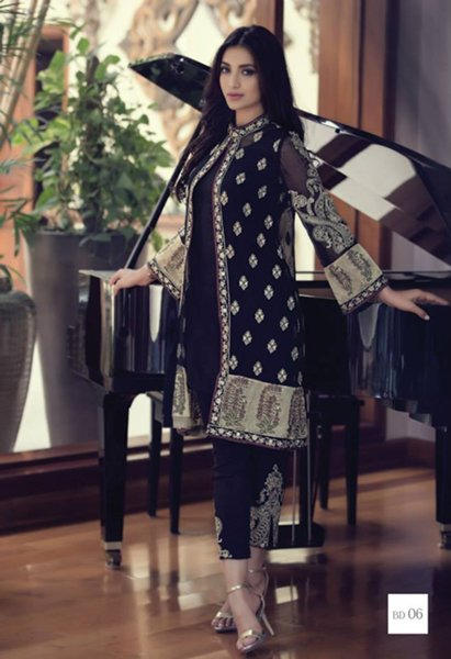 Maria B Embroidered Chiffon Collection 2015 For Women09