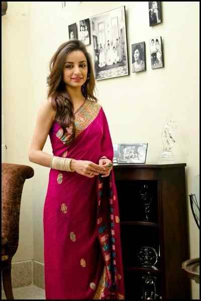 Which Pakistani Celebrities Look Beautiful In Saree0010