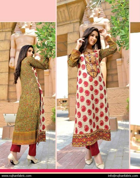 Rujhan Fabrics Eid Collection 2015 For Women008