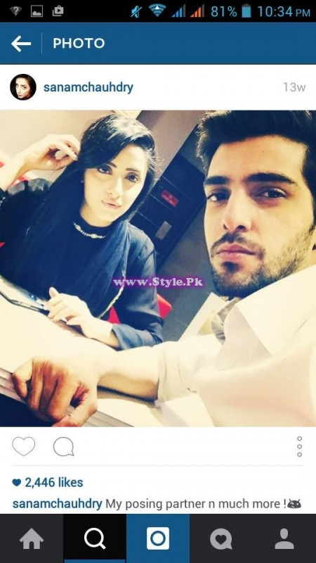 Sanam Chaudhry and Furqan Qureshi are mad in each other's love 10