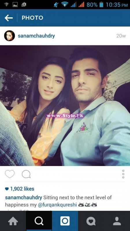 Sanam Chaudhry and Furqan Qureshi are mad in each other's love 11