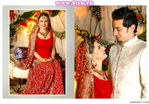 See Pakistani Celebrities who wore red color on their wedding day
