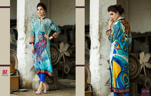 Al Zohaib Textile Tunic Collection 2015 For Women007