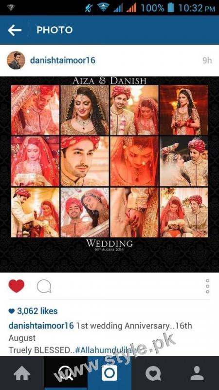 Ayeza Khan and Danish Taimoor's 1st Wedding Anniversary