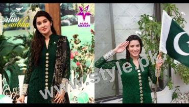 See Pakistani Celebrities wearing same dresses on Independence day 2015