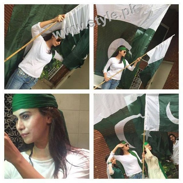 Pakistani Celebrities on Independence Day 2015 (20)