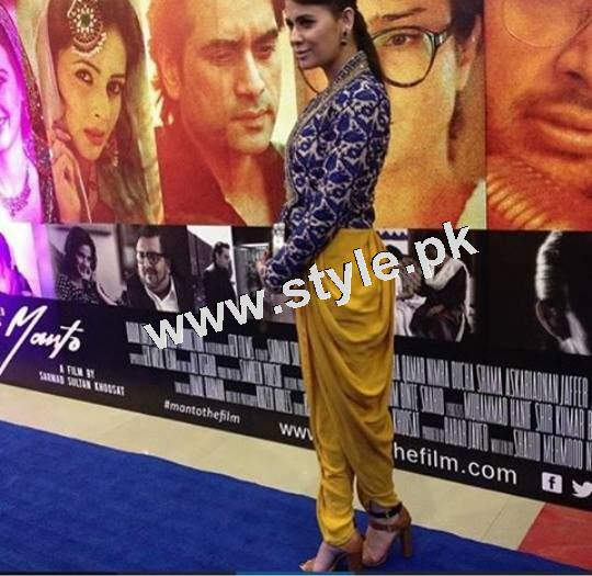 Pakistani Celebrities on the red carpet of MANTO 19