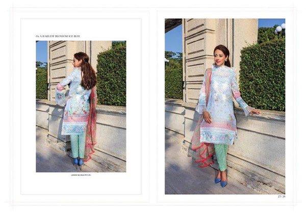 Farah Talib Aziz Midsummer Collection 2015 By Lakhany Silk Mills0012