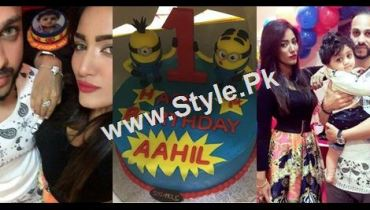 See Mathira Celebrating her son's first Birthday